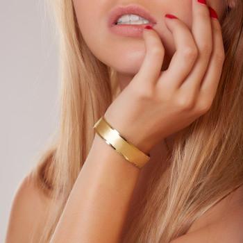 Bracelet plaqué or Martelé mat brillant, bijoux de créateur, vente en ligne, bijou artisanal, fabrication française
