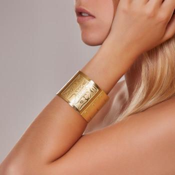Bracelet plaqué or Empereur de Chine, bijoux de créateur, vente en ligne, bijou artisanal, fabrication française