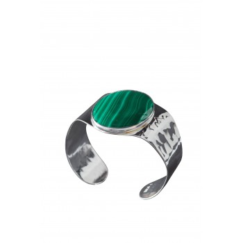 Bracelet argent Malachite ELEGANZA
