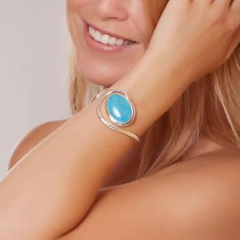 Bracelet argent Turquoise Voluptia