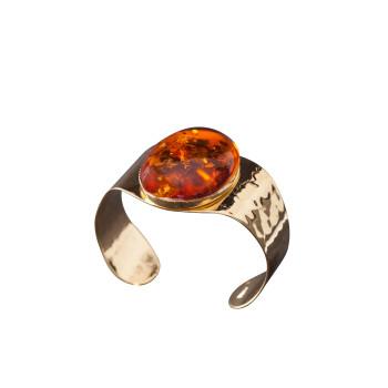 Bracelet plaqué or Ambre ELEGANZA