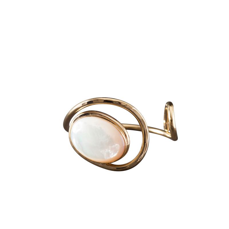 Bracelet plaqué or nacre Voluptia, bijoux de créateur, vente en ligne, bijou artisanal, bijou fabrication française