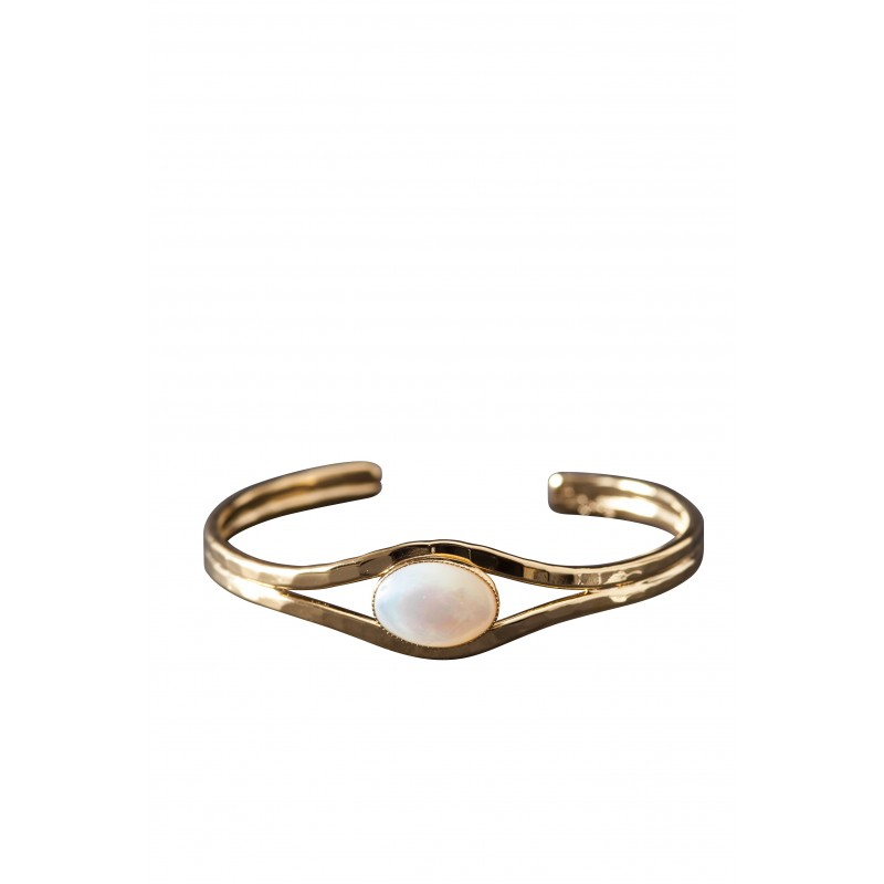 Bracelet plaqué or nacre Classica, bijoux de créateur, vente en ligne, bijou artisanal, bijou fabrication française