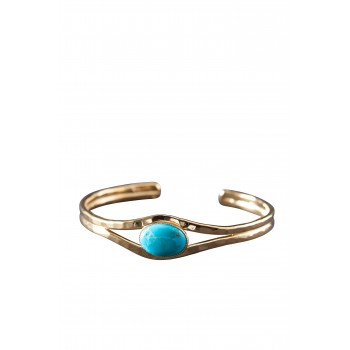 Bracelet Or Avec Turquoise