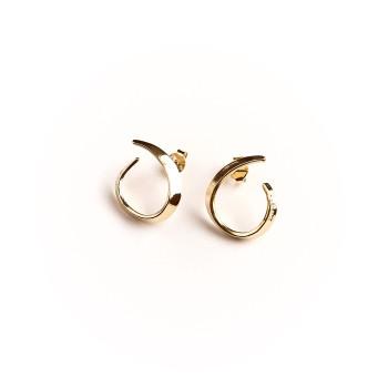 Boucles d'oreille plaqué or Le vent l'emportera, bijoux de créateur, vente en ligne, bijou artisanal, bijou fabrication français
