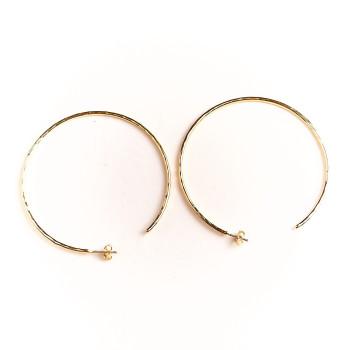 Boucles d'oreille plaqué or Créole, bijoux de créateur, vente en ligne, bijou artisanal, bijou fabrication française