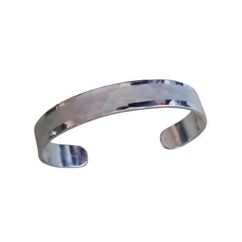 Bracelet plaqué argent mat brillant, bijoux de créateur, vente en ligne, bijou artisanal, bijou fabrication française