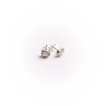 Boucles d'oreille argent avec Nacre