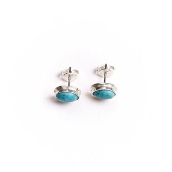 Boucles d'oreille argent Turquoise Classica