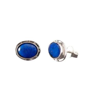 Boucles d'oreille argent avec lapis lazuli