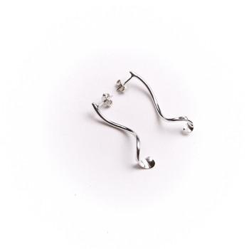 Boucles d'oreille argent fluide absolu, bijoux de créateur, vente en ligne, bijou artisanal, bijouterie en ligne