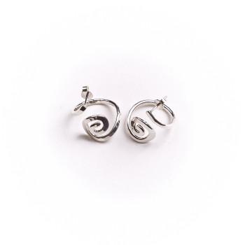 Boucles d'oreille argent Spirale