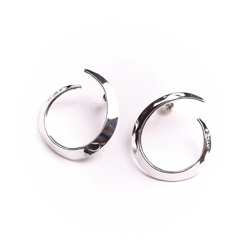 Boucles d'oreille argent le vent l'emportera, bijoux de créateur, vente en ligne, bijou artisanal, bijouterie en ligne