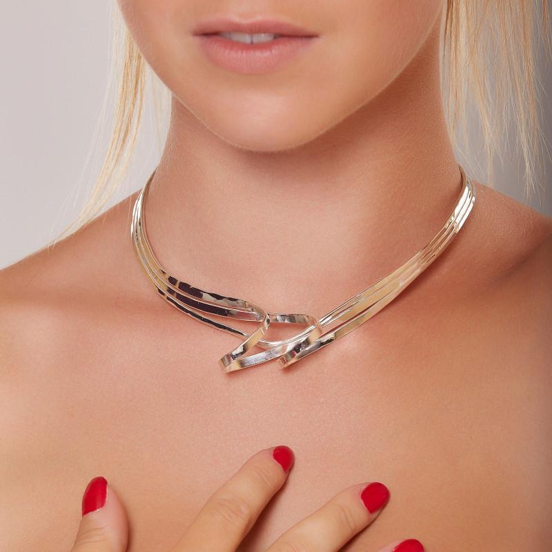 Collier argent Charmeuse, bijoux de créateur, vente en ligne, bijou artisanal, bijouterie en ligne
