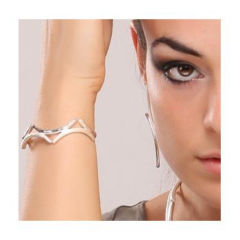 Bracelet argent les lauriers de venus, bijoux de créateur, vente en ligne, bijou artisanal, bijouterie en ligne