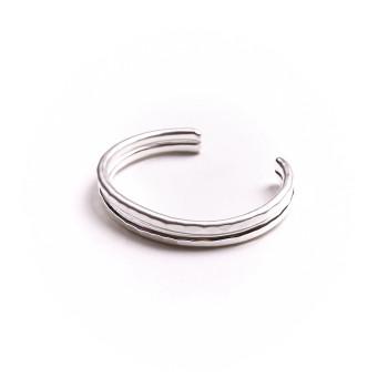 Bracelet argent 2 fils 2