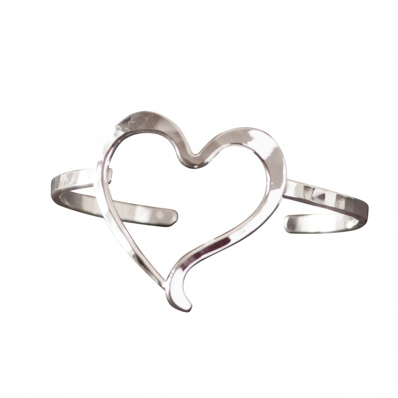 Bracelet argent coeur, bijoux de créateur, vente en ligne, bijou artisanal, bijouterie en ligne