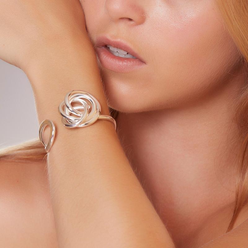 Bracelet argent noeud, bijoux de créateur, vente en ligne, bijou artisanal, bijouterie en ligne