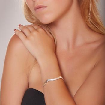 Bracelet argent Frisson