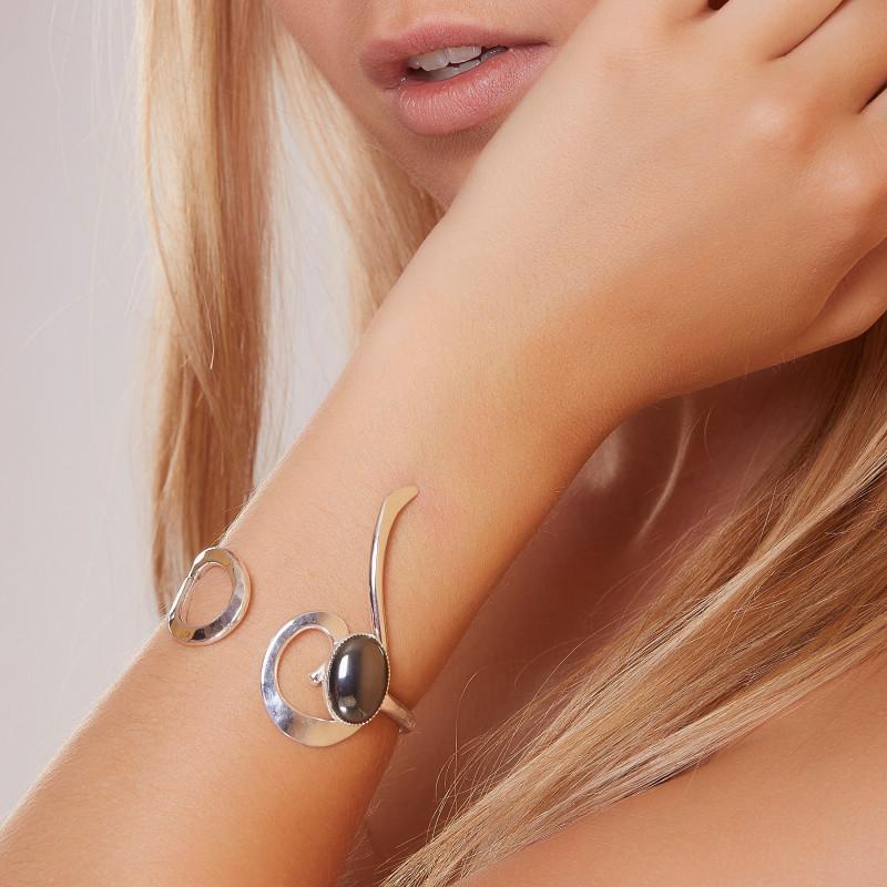 Bracelet argent Hématite 2