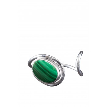 Bracelet argent malachite, bijoux de créateur, vente en ligne, bijou artisanal, bijouterie en ligne