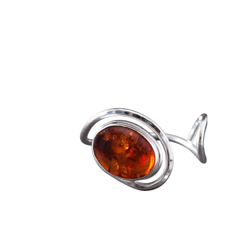 Bracelet argent ambre Voluptia, bijoux de créateur, vente en ligne, bijou artisanal, bijouterie en ligne