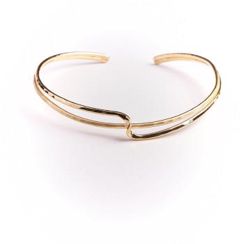 Collier plaqué or Double lien d'amour, bijoux de créateur, vente en ligne, bijouterie