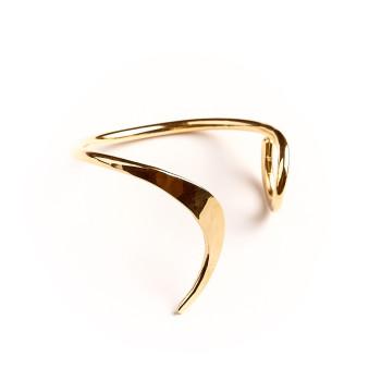Bracelet plaqué or Le vent l'emportera, bijoux de créateur, vente en ligne, bijou artisanal, fabrication française