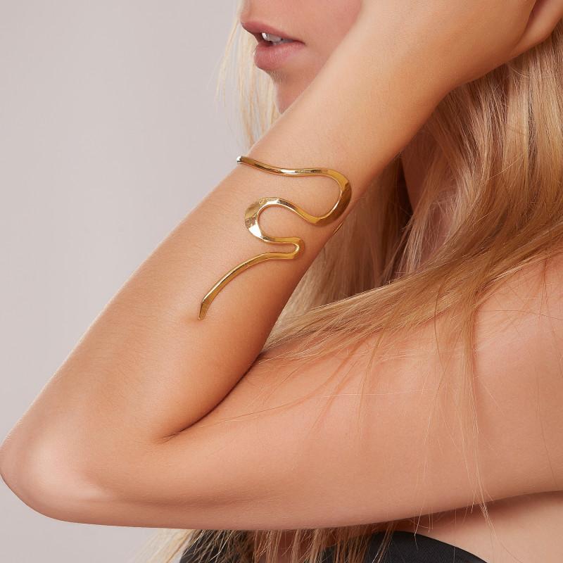 Bracelet plaqué or Séduction, bijoux de créateur, vente en ligne, bijou artisanal, fabrication française