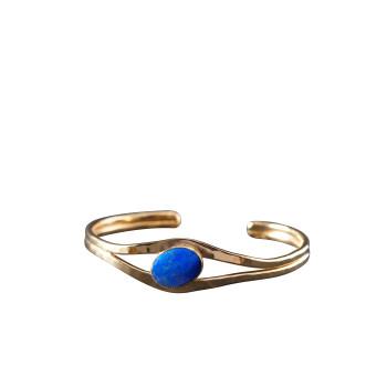 Bracelet Or Avec Lapis-Lazuli