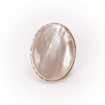 Bague argent nacre, bijoux de créateur, vente en ligne, bijouterie, bijou artisanal