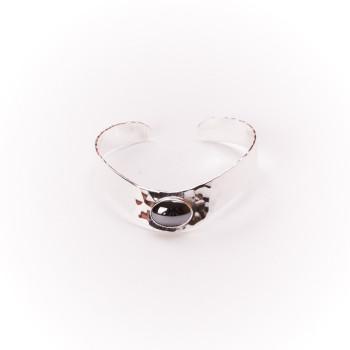 Bracelet argent hématite, bijoux de créateur, vente en ligne, bijouterie, bijou artisanal