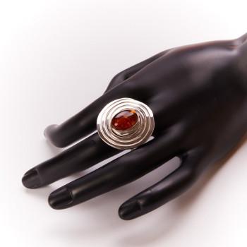 Bague argent ambre, bijoux de créateur, vente en ligne, bijouterie, bijou artisanal