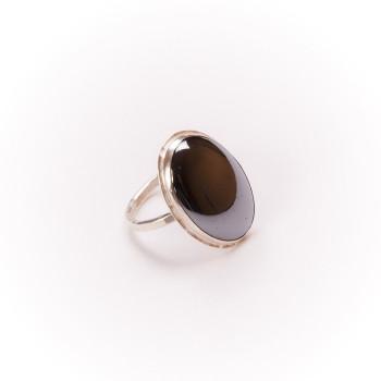 Bague argent avec hématite, bijoux de créateur, vente en ligne, bijouterie, bijou artisanal