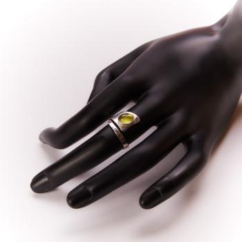 Bague argent péridot, bijoux de créateur, vente en ligne, bijouterie, bijou artisanal