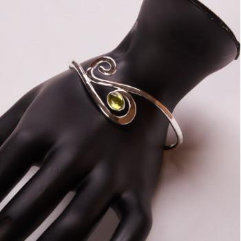 Bracelet argent avec péridot Forza, bijoux de créateur, vente en ligne, bijouterie, bijou artisanal