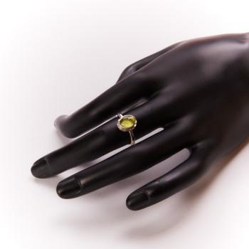 Bague argent avec péridot Classica, bijoux de créateur, vente en ligne, bijouterie, bijou artisanal