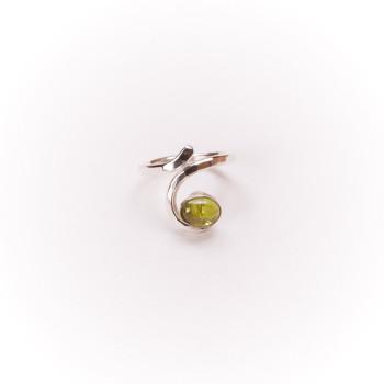 Bague argent Péridot, bijoux de créateur, vente en ligne, bijouterie