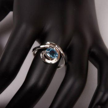 Bijoux avec Topaze bleue