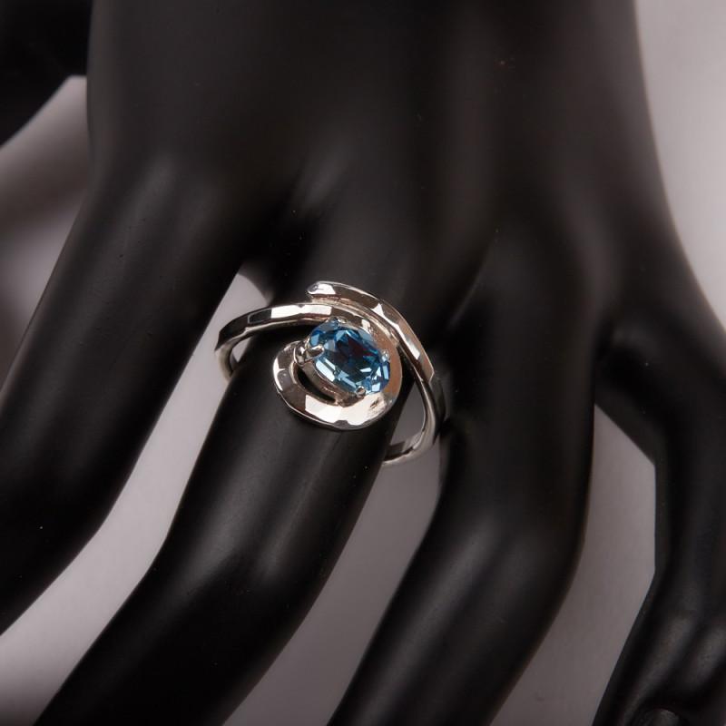 Bague argent Topaze bleue Esia, bijoux de créateur, vente en ligne, bijouterie