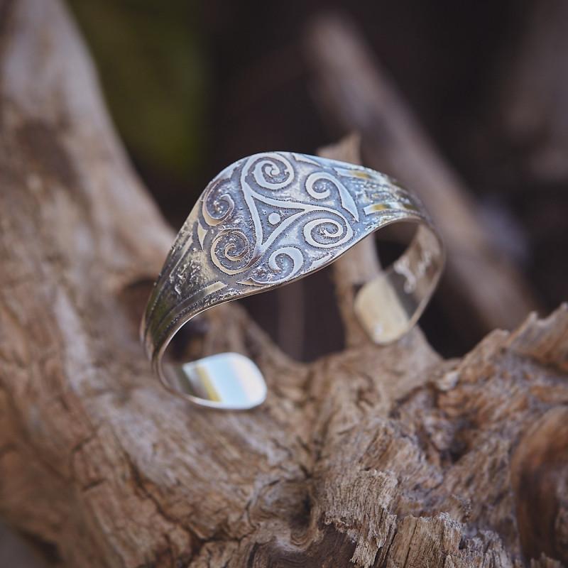 Bracelet Triskell, bracelet plaqué argent, bijoux de créateur, bijouterie en ligne