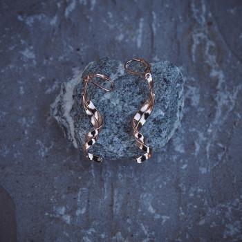 Boucles d'oreille Boucles d'Amour plaqué or rose, bijoux de créateur, bijouterie en ligne