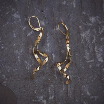 Boucles d'oreille Boucles d'Amour plaqué or, bijoux de créateur, bijouterie en ligne