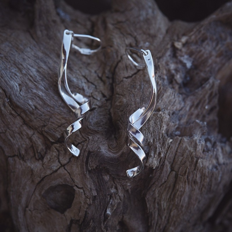 Boucles d'oreille Boucles d'Amour en argent, bijoux de créateur, bijouterie en ligne