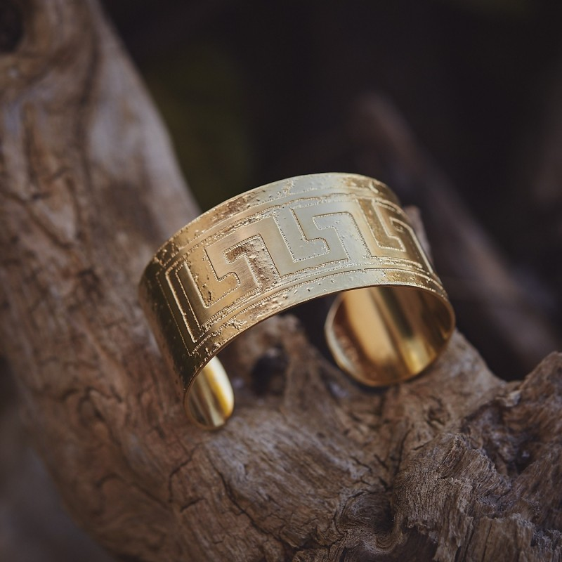 Bracelet plaqué or Grec, bijoux de créateur, bijouterie en ligne