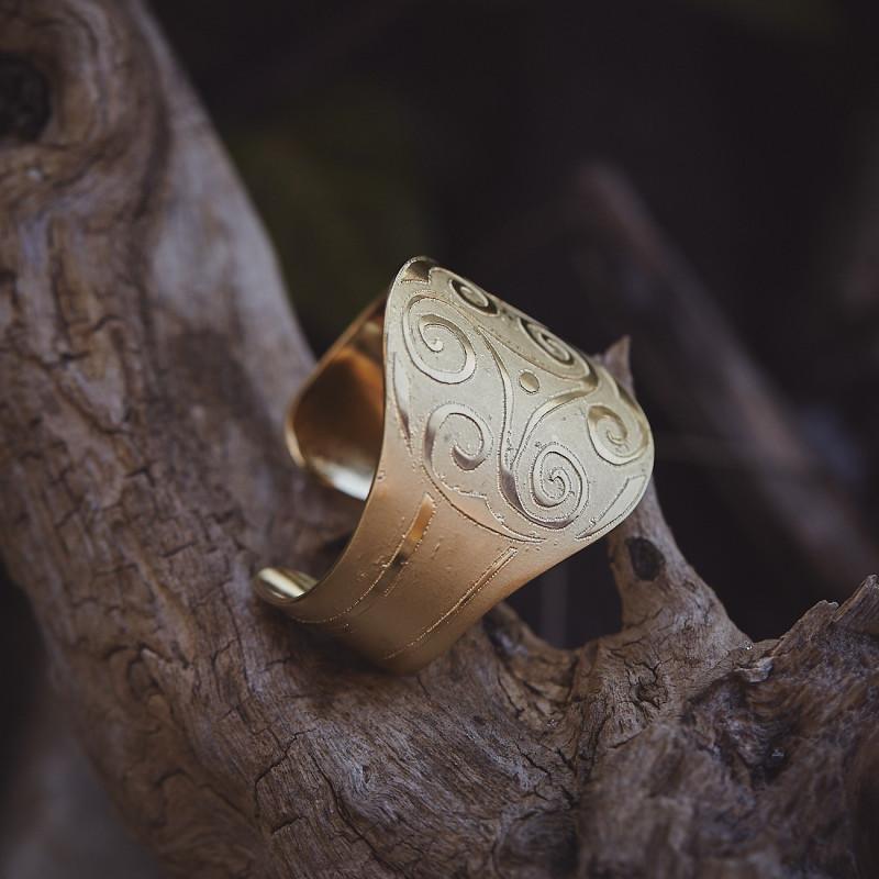 Bracelet plaqué or Triskel, bijoux de créateur, bijouterie en ligne
