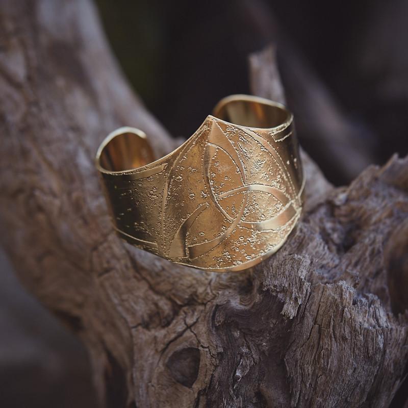 Bracelet plaqué or Triangle celtique, bijoux de créateur, bijouterie en ligne