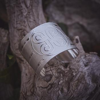Bracelet Noeud de Bowen, bracelet plaqué argent, bijoux de créateur, bijouterie en ligne