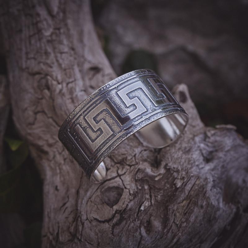 Bracelet Grec, bracelet plaqué argent, bijoux de créateur, bijouterie en ligne