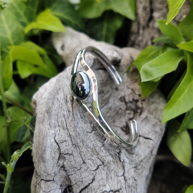 Bracelet argent hématite Classica, bijoux de créateur, vente en ligne, bijou artisanal, bijouterie en ligne